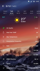 screenshot of Weather Forecast version 1.2.3