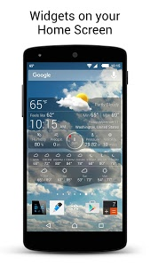 screenshot of Weather Live Free version 4.9