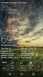 screenshot of Weather Live with Widgets Free version 4.2