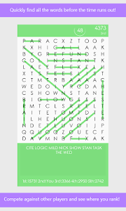 screenshot of Word Search League version 1.0