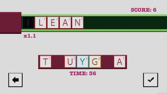 screenshot of Wordrow - A Word Building Game version 3.4