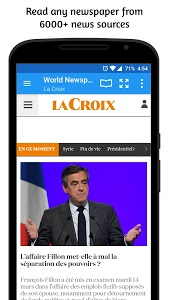 screenshot of World Newspapers version 3.0.0