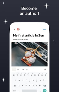 screenshot of Zen: personalized stories feed version 4.0.1