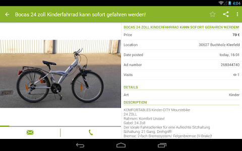 screenshot of eBay Kleinanzeigen for Germany version 6.9.8