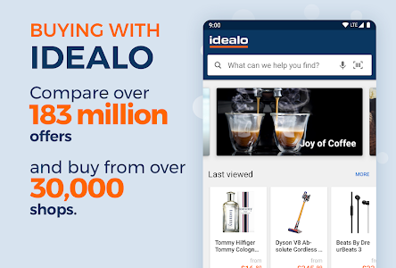 screenshot of idealo - Price Comparison & Mobile Shopping App version Varies with device