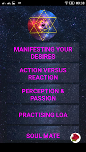 "screenshot of law of attraction ""attraction"" version 1.08"