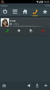screenshot of myPBX for Android version 12r2 sr25 [125602]