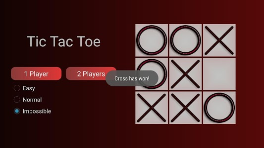 screenshot of TicTacToe two players version 1.0