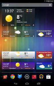 screenshot of wetter.com - Weather and Radar version Varies with device